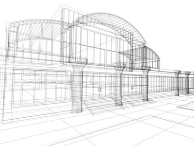 3D Cad Building Drawing